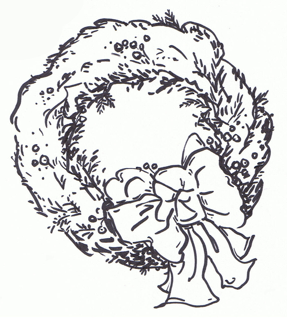 Wreath Clipart Black And White Images   Pictures   Becuo