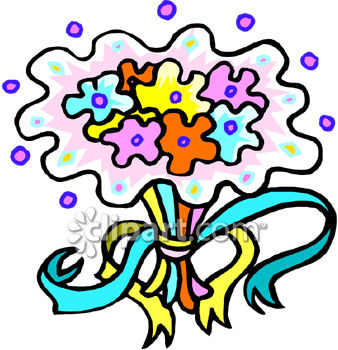 Clip Art Silhouette Flower Bouquet Clipart - Clipart Kid