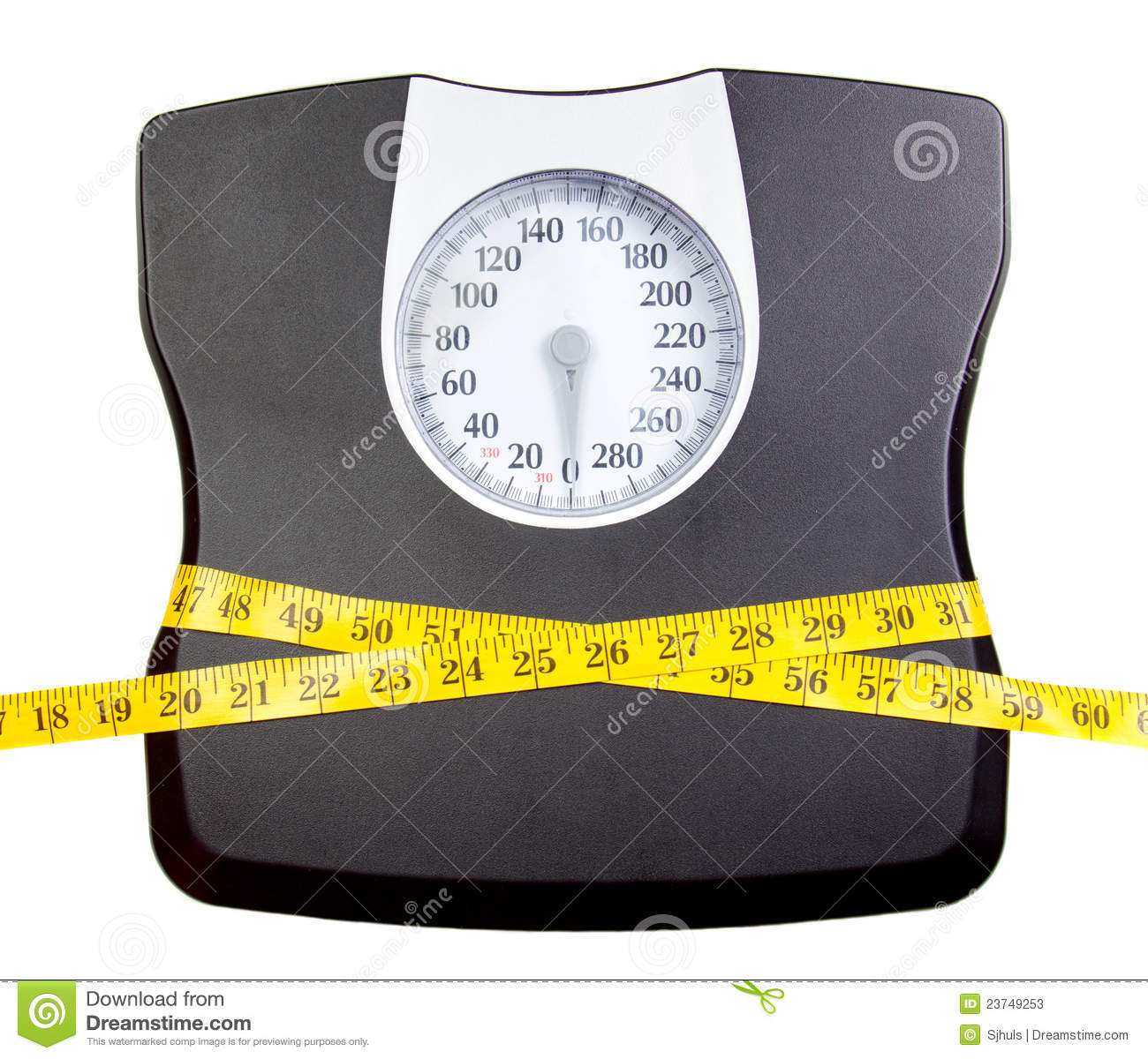 Bathroom Scale With A Measuring Tape Stock Photos   Image  23749253