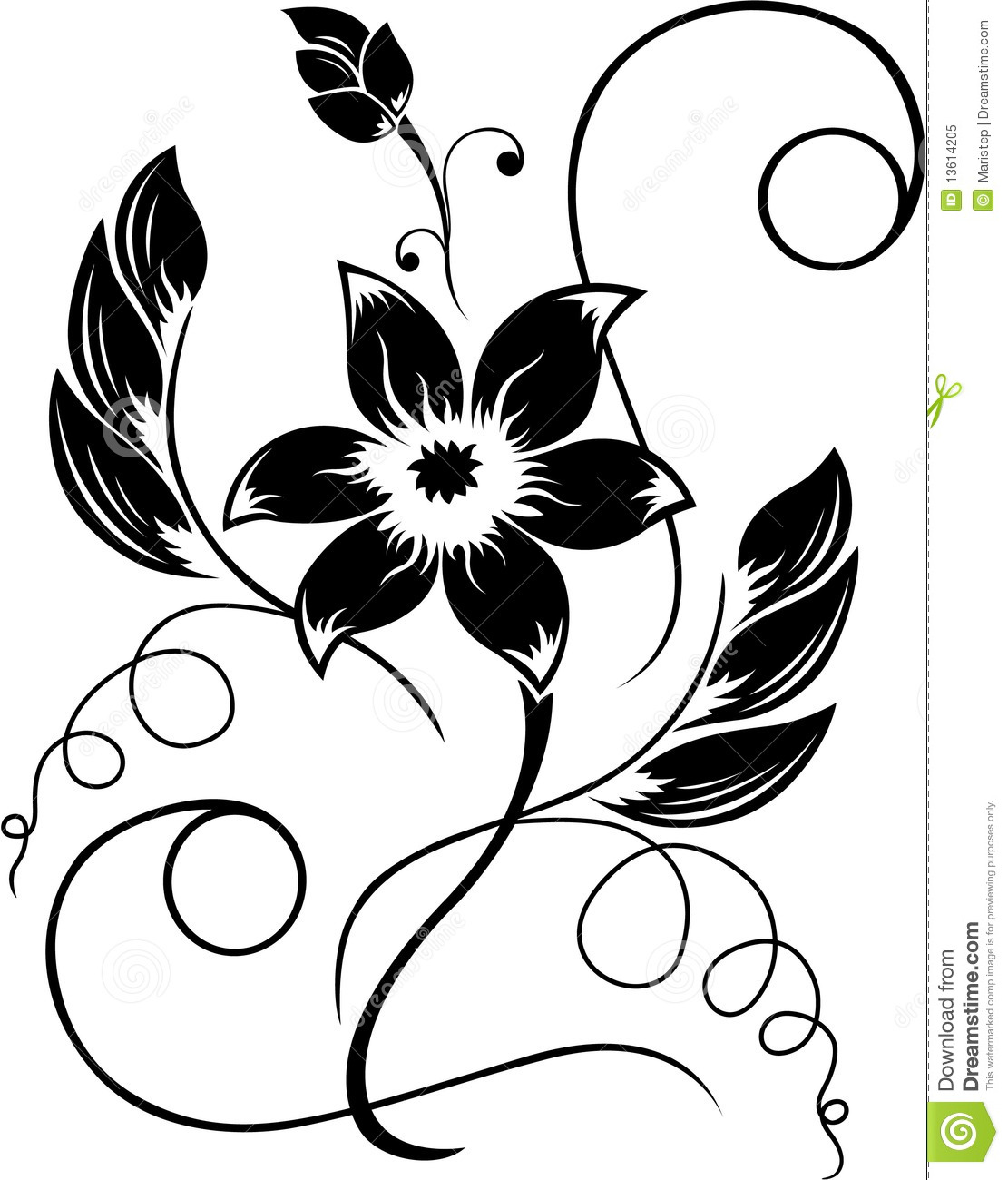 Black Rose White Flower Clipart - Clipart Suggest