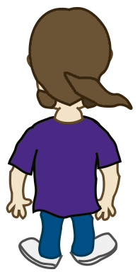 Character Back Of Long Hair Guy   Http   Www Wpclipart Com Cartoon