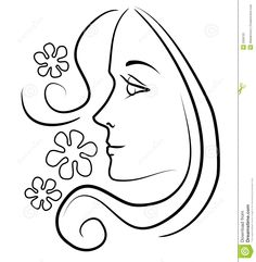 Clip Art Of A Girl Face Clip Art Outline Illustration Of The Profile