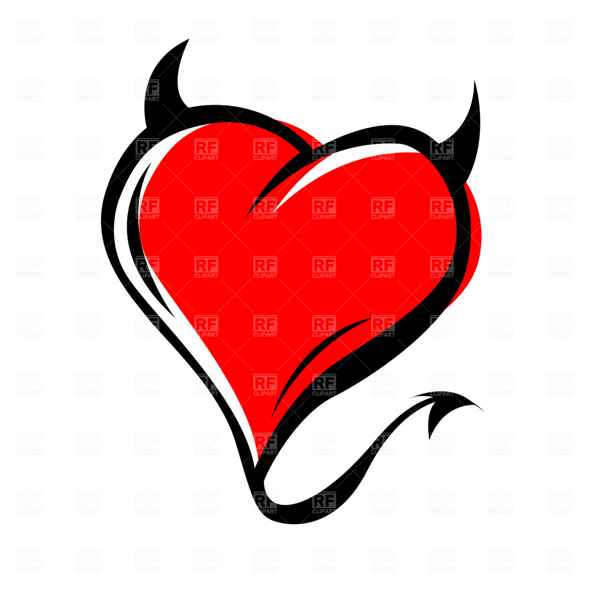 Clipart Catalog   Icons And Emblems   Devil S Heart Download Royalty