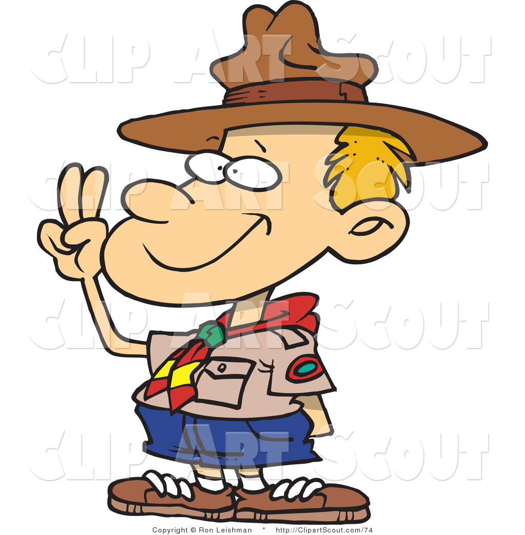 Clipart Of A Cartoon Boy Boy Scout Troop 411 Cub