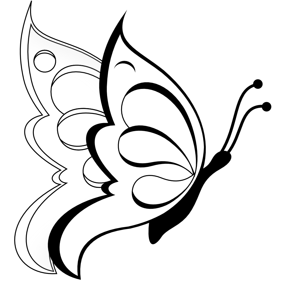 Clipart Rose Black And White Simple Flower Clipart Black And White