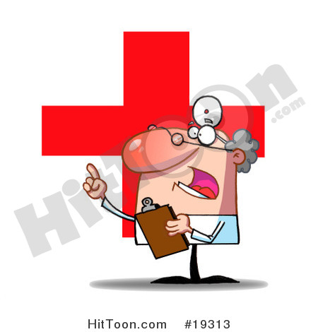 Doctor Clipart  19313  Worried Doctor Guy Holding A Clipboard And