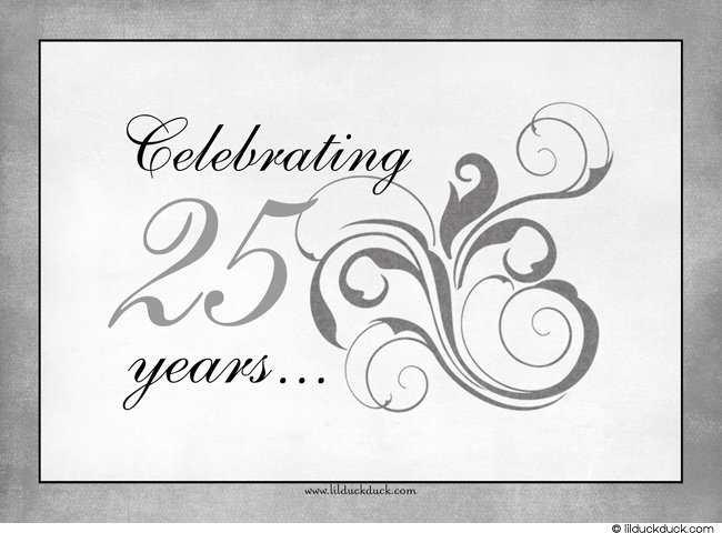 Clip Art Silver Anniversary