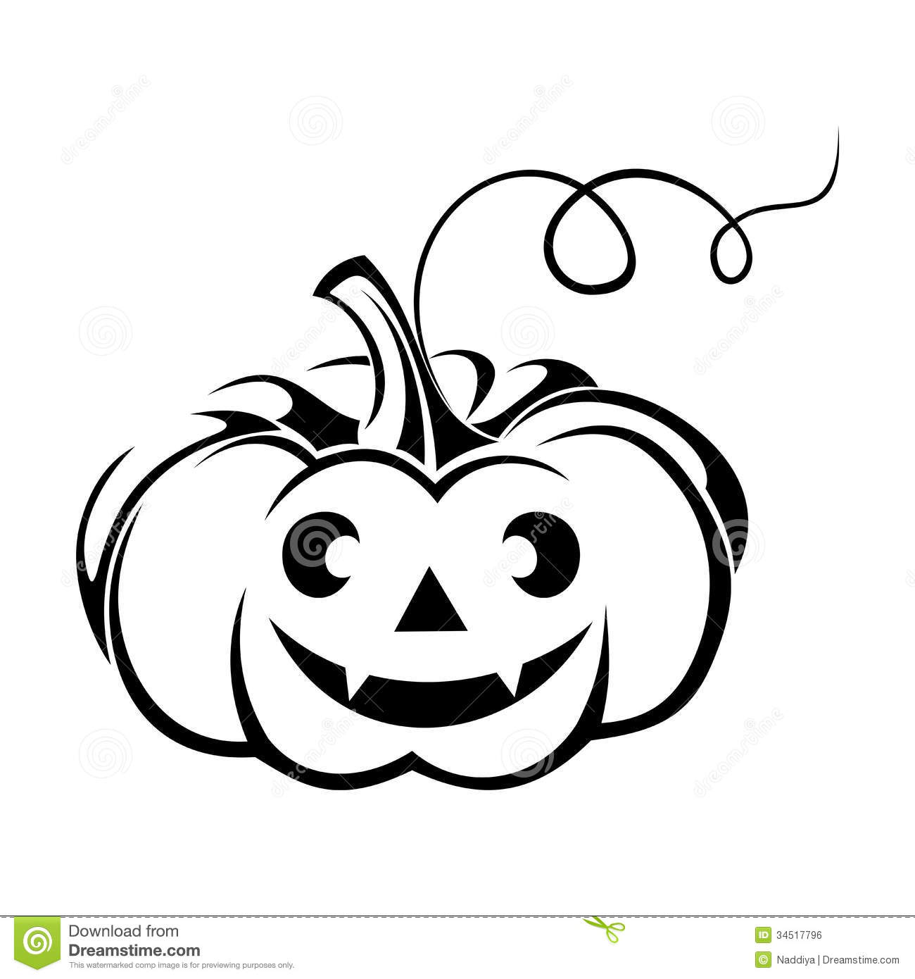 Jack O Lantern Black And White Clipart - Clipart Suggest