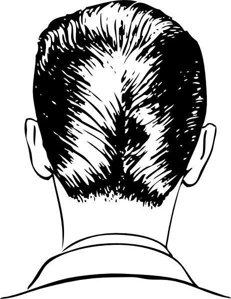 Haircut Rear View Clip Art At Clker Com   Vector Clip Art Online