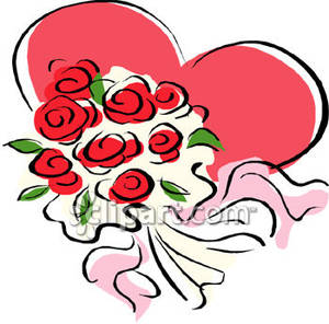 Heart With Rose Clipart Red Rose Clip Art Free   Clipart