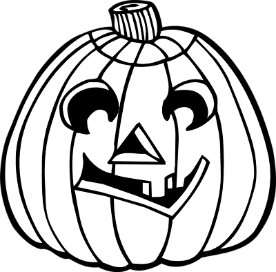 Jack O Lantern Black And White Clipart - Clipart Kid