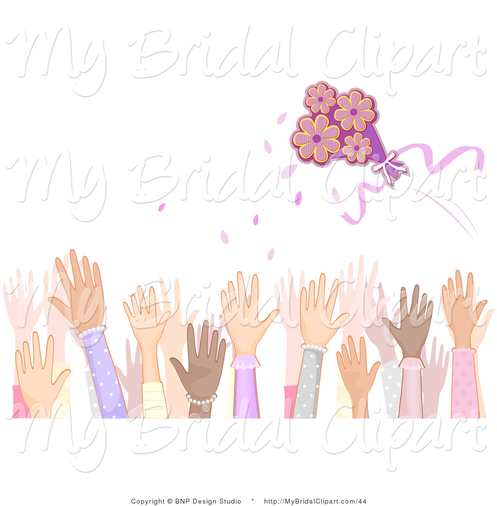 Larger Preview  Bridal Clipart Of A Crowd Of Female Hands At A Wedding