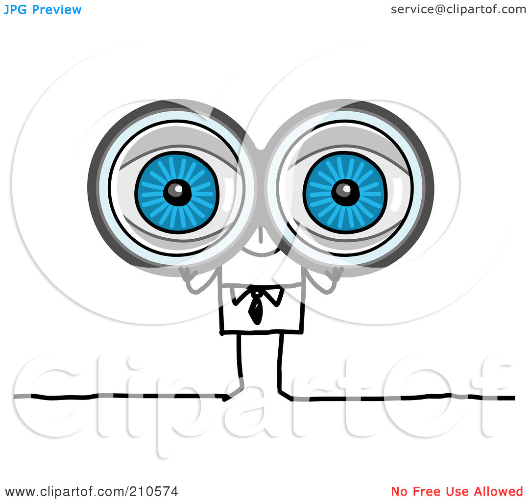 Looking Through Binoculars Clipart Images   Pictures   Becuo