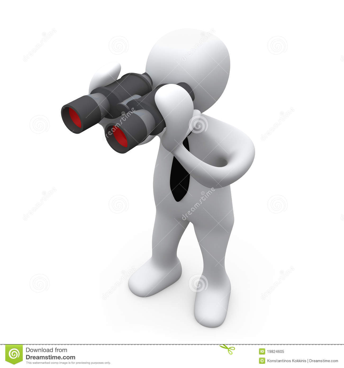 Looking Through Binoculars Royalty Free Stock Photo   Image  19824605