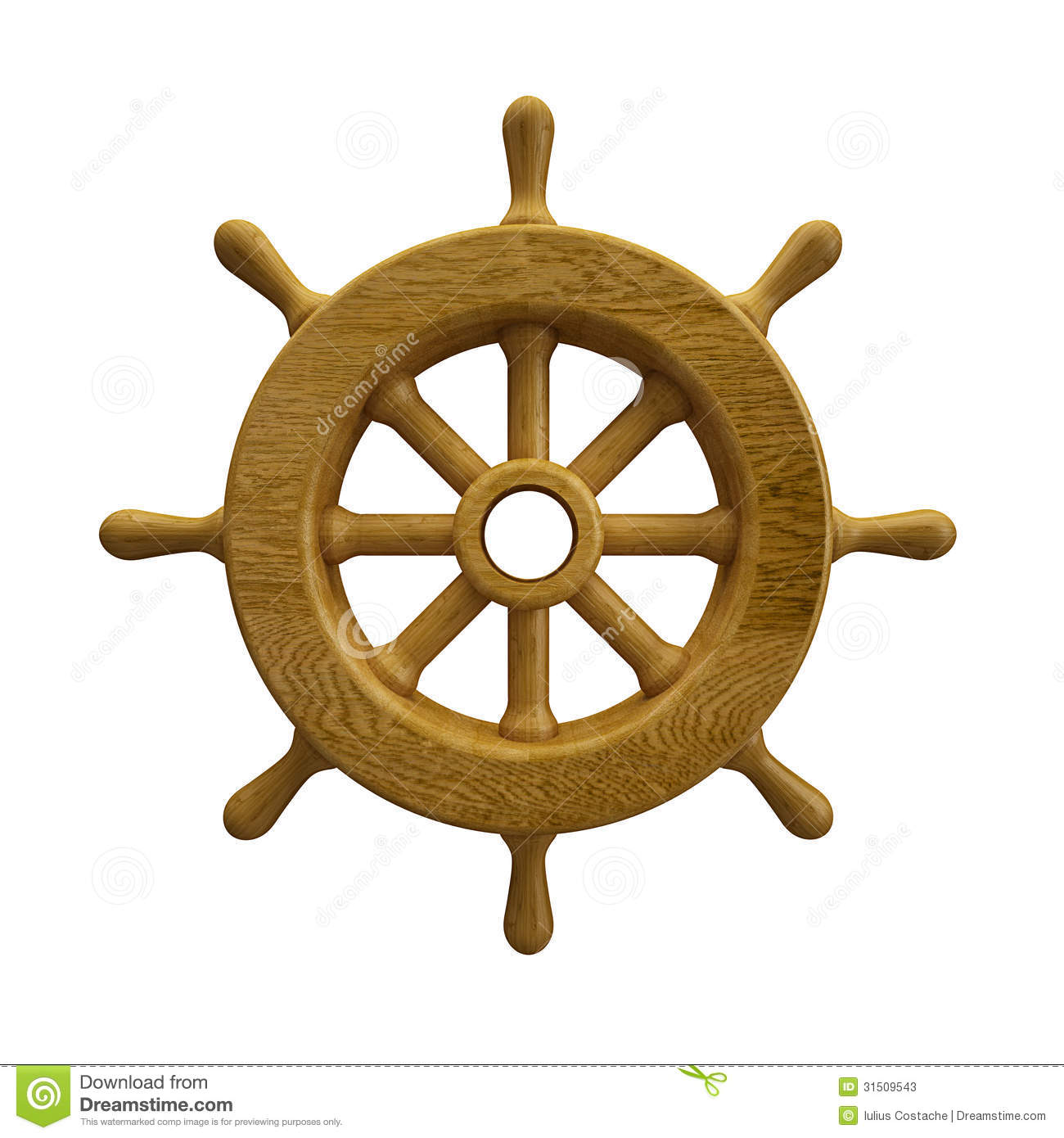 Navy Ship Wheel Clip Art Ship Wheel Isolated On White