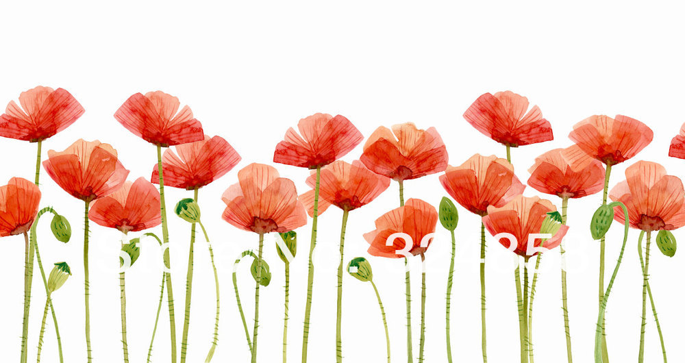 Painting Poppies Flower Clipart Artwork Home Wall Decor Wall Art