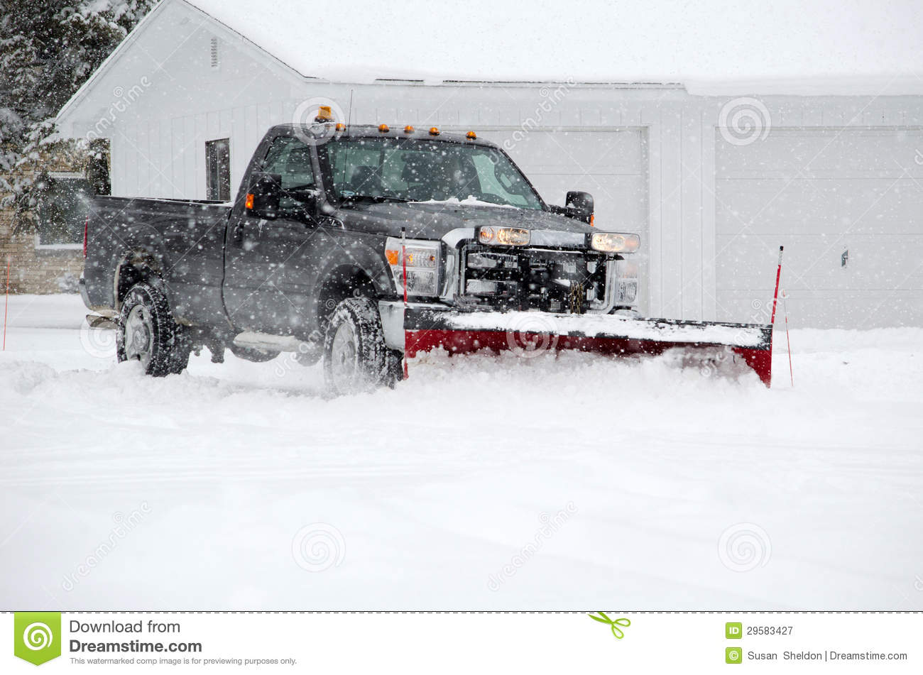 Plowing Snow Royalty Free Stock Photography   Image  29583427
