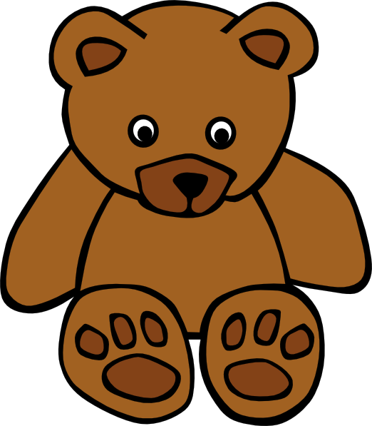 Simple Teddy Bear Clip Art At Clker Com   Vector Clip Art Online