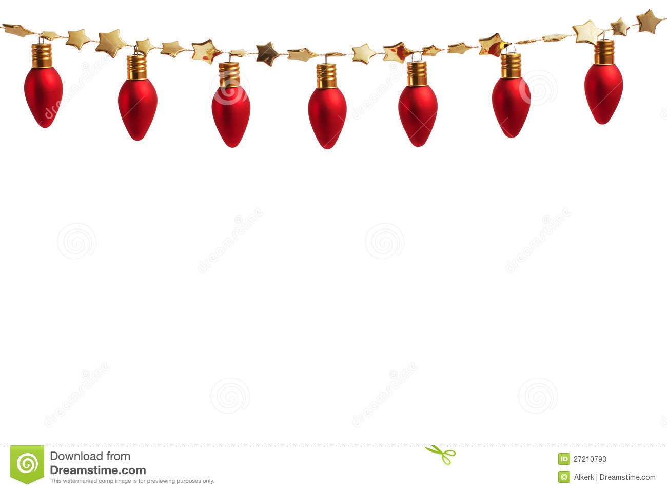 String Of Christmas Ornament Lights Stock Photos   Image  27210793