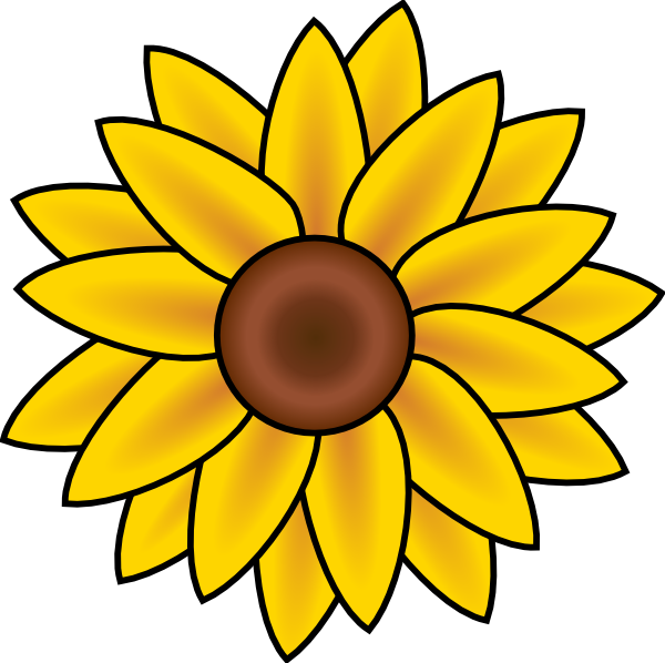 Sunflower Clip Art At Clker Com   Vector Clip Art Online Royalty Free