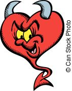 Valentine Devil Vector Clipart And Illustrations
