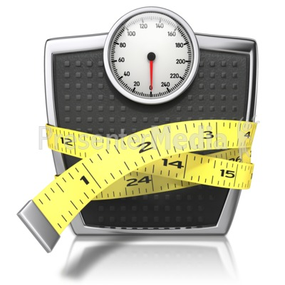 Weight Loss Tape Measure Clipart Scale With Tape Measure