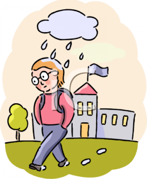 Back To School Clip Art Image  A Student Not Wanting To Go To School