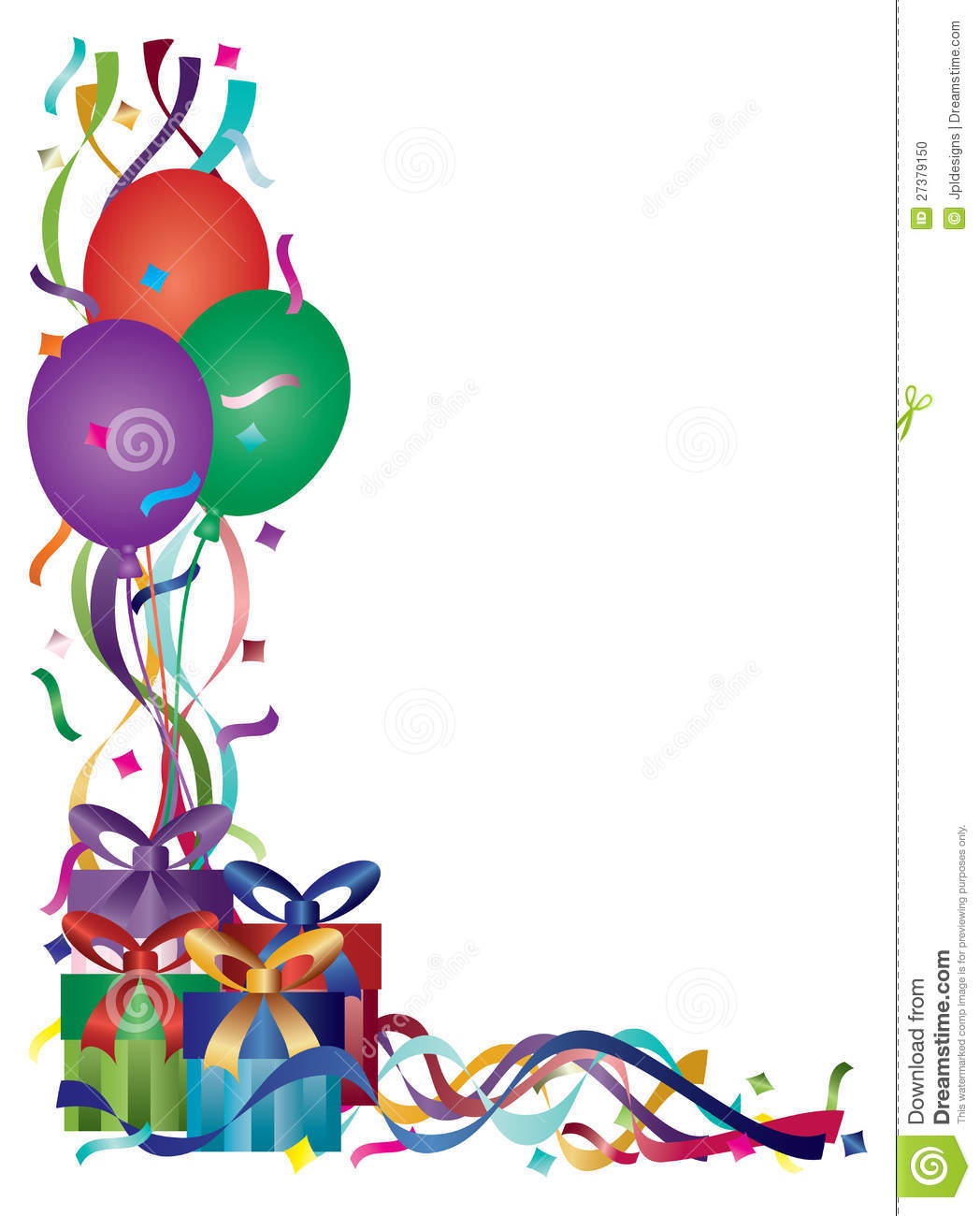 Birthday Borders Panda Free Images Clipart