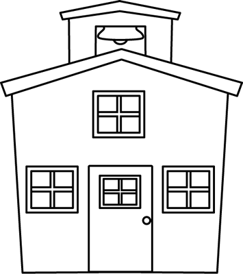 Black And White Schoolhouse