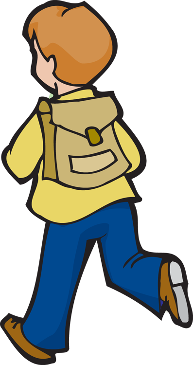 Kid With Backpack Clipart