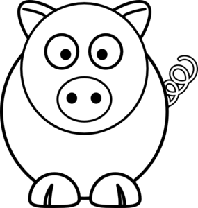 Clip Art Pig Clipart Black And White cute pig black and white clipart kid cartoon clip art