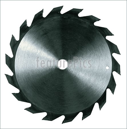 Circular Saw Blade Isolated Over A White Background