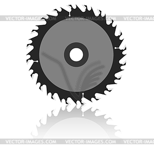 Circular Saw Blade   Vector Clipart