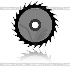 Circular Saw Blade   White   Black Vector Clipart