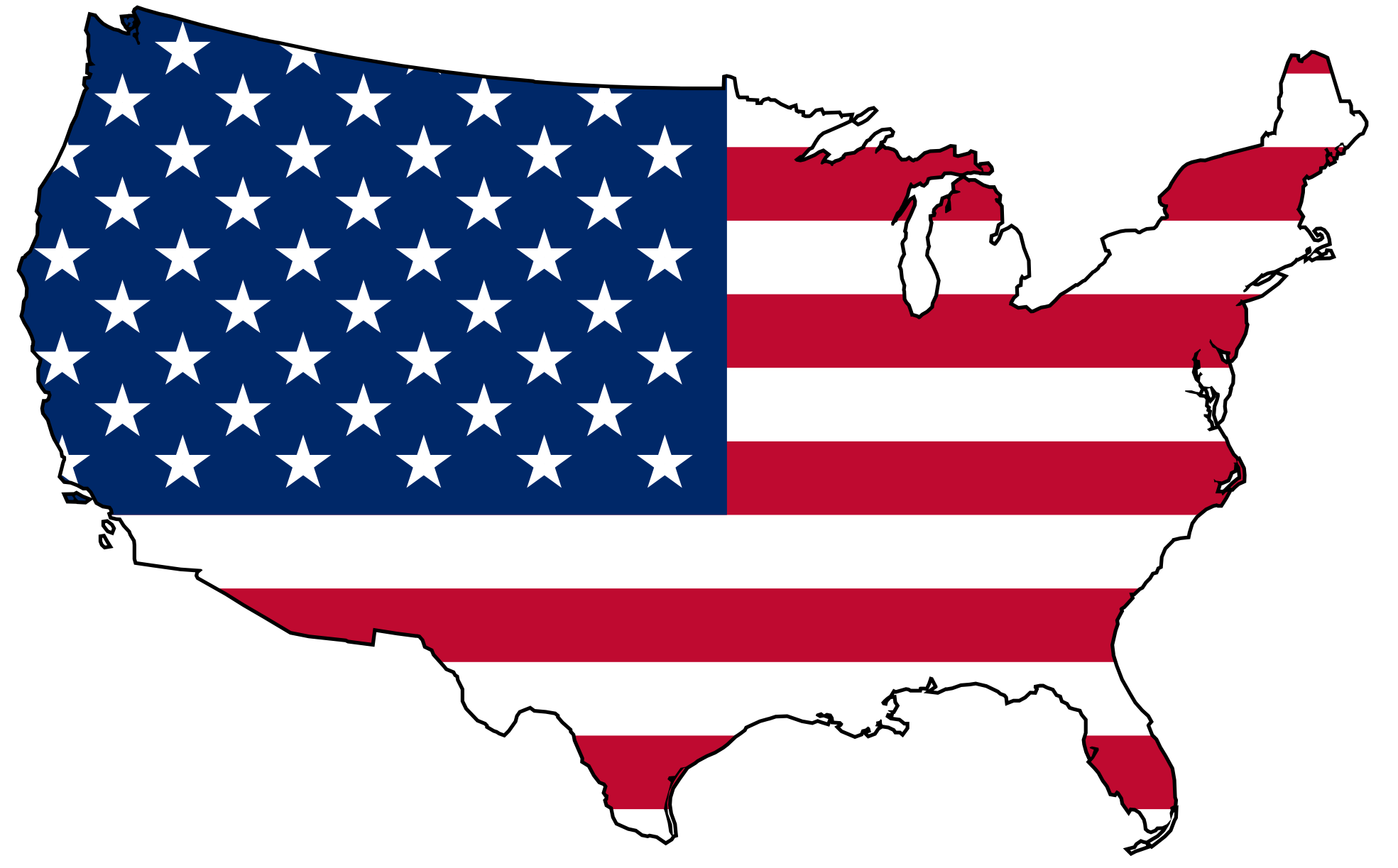 Clip Art   Usa Flag Map   Clipart Panda   Free Clipart Images