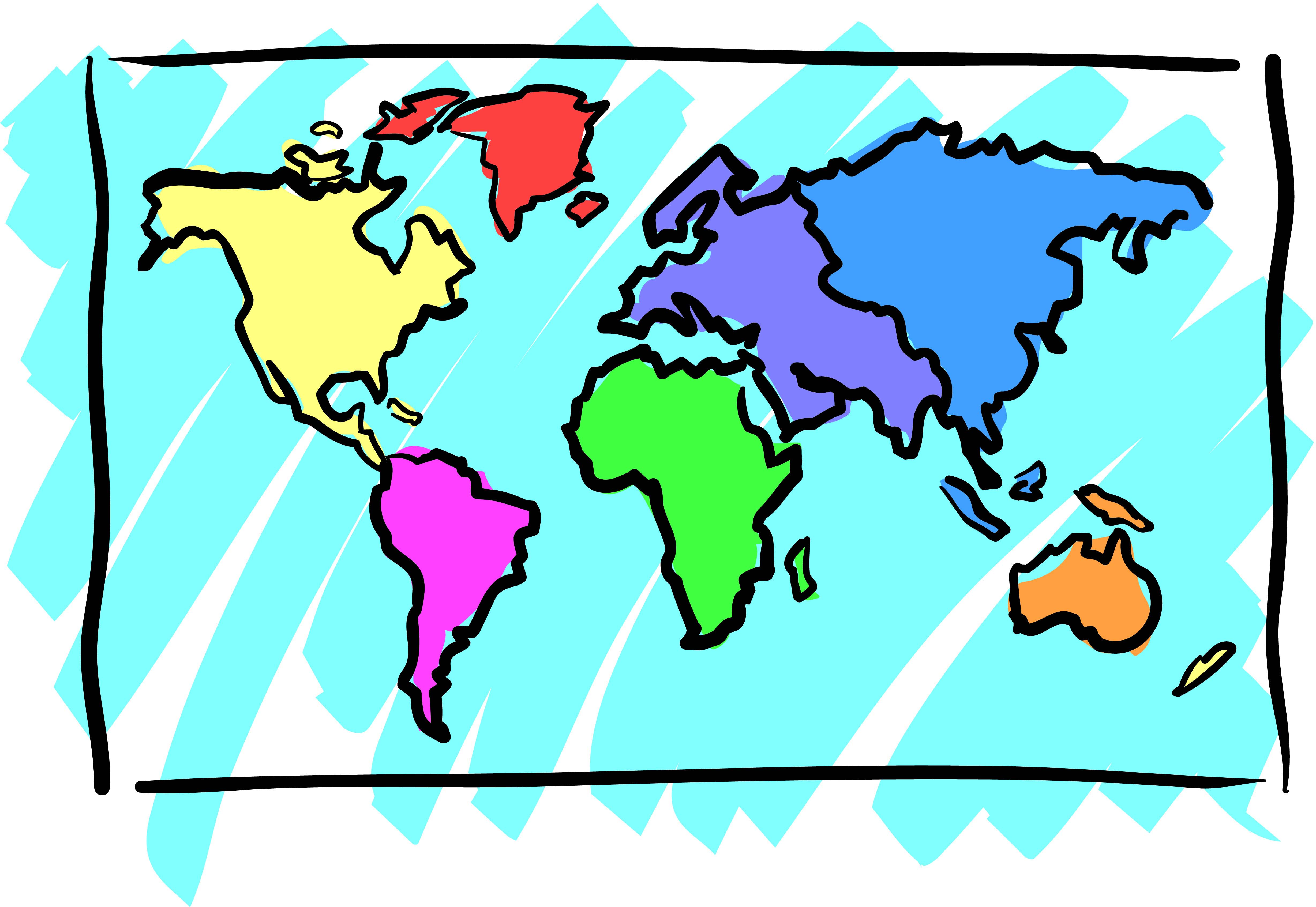 Clip Art World Map   Cliparts Co