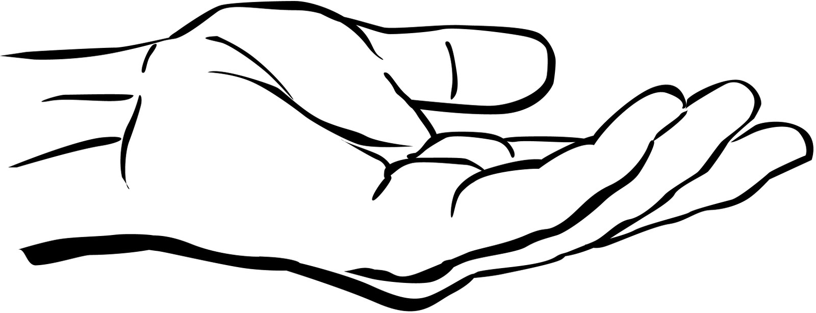 Two Hands Black And White Clipart - Clipart Suggest