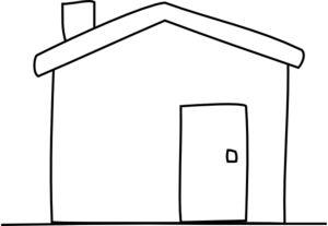 Cottage Clipart Black And White All White House Md Png