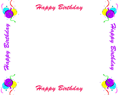 Free Birthday Borders For Invitations And Other Birthday Projects