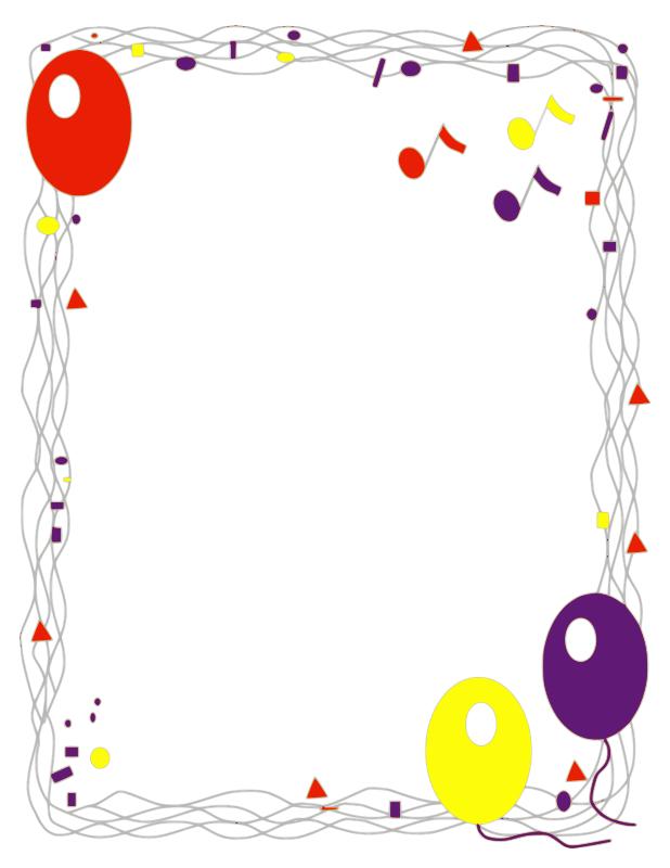 Birthday Borders Clipart - Clipart Kid