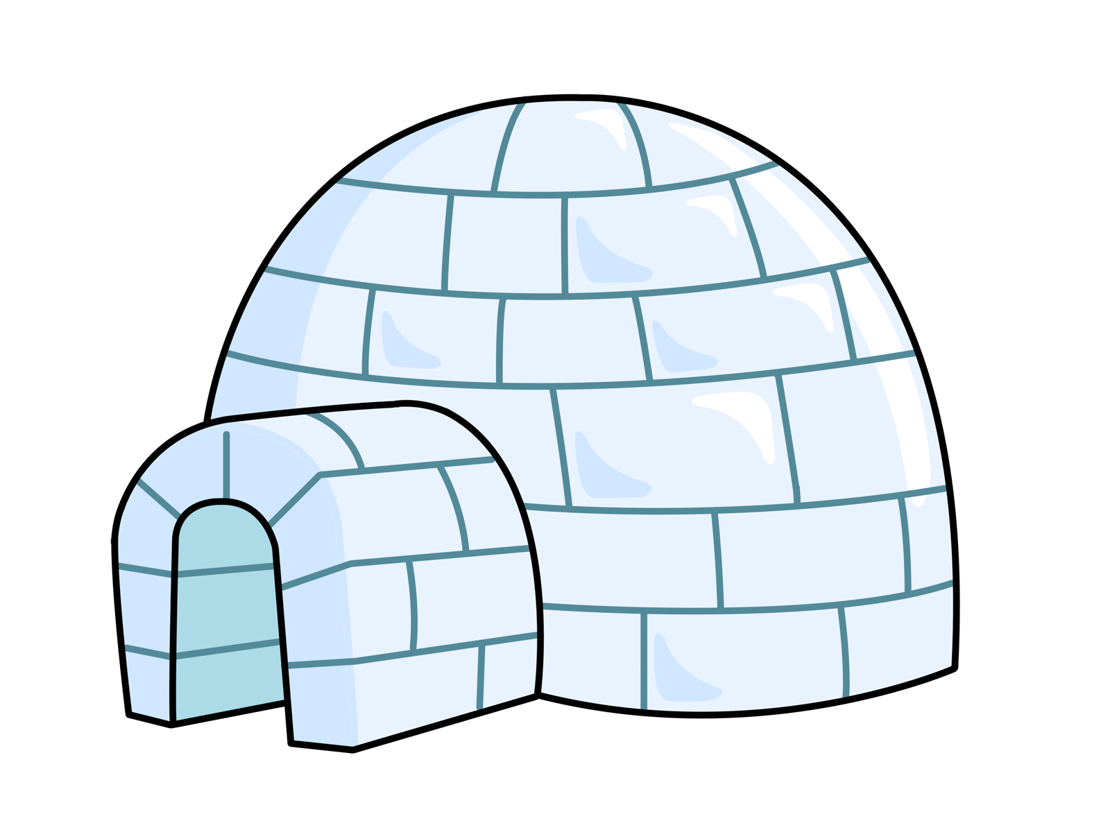 Igloo clipart clipart suggest for Free online drawing