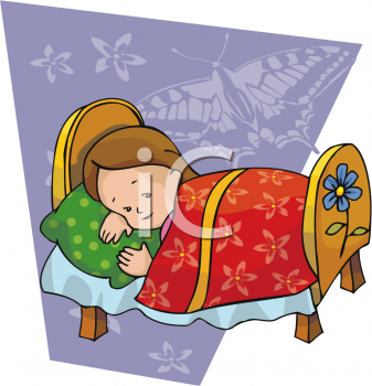 Girl Taking A Nap   Royalty Free Clip Art Image