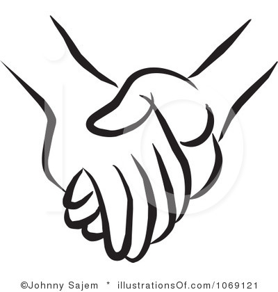 Hand Clip Art Outline Holding Hands   Clipart Panda   Free Clipart
