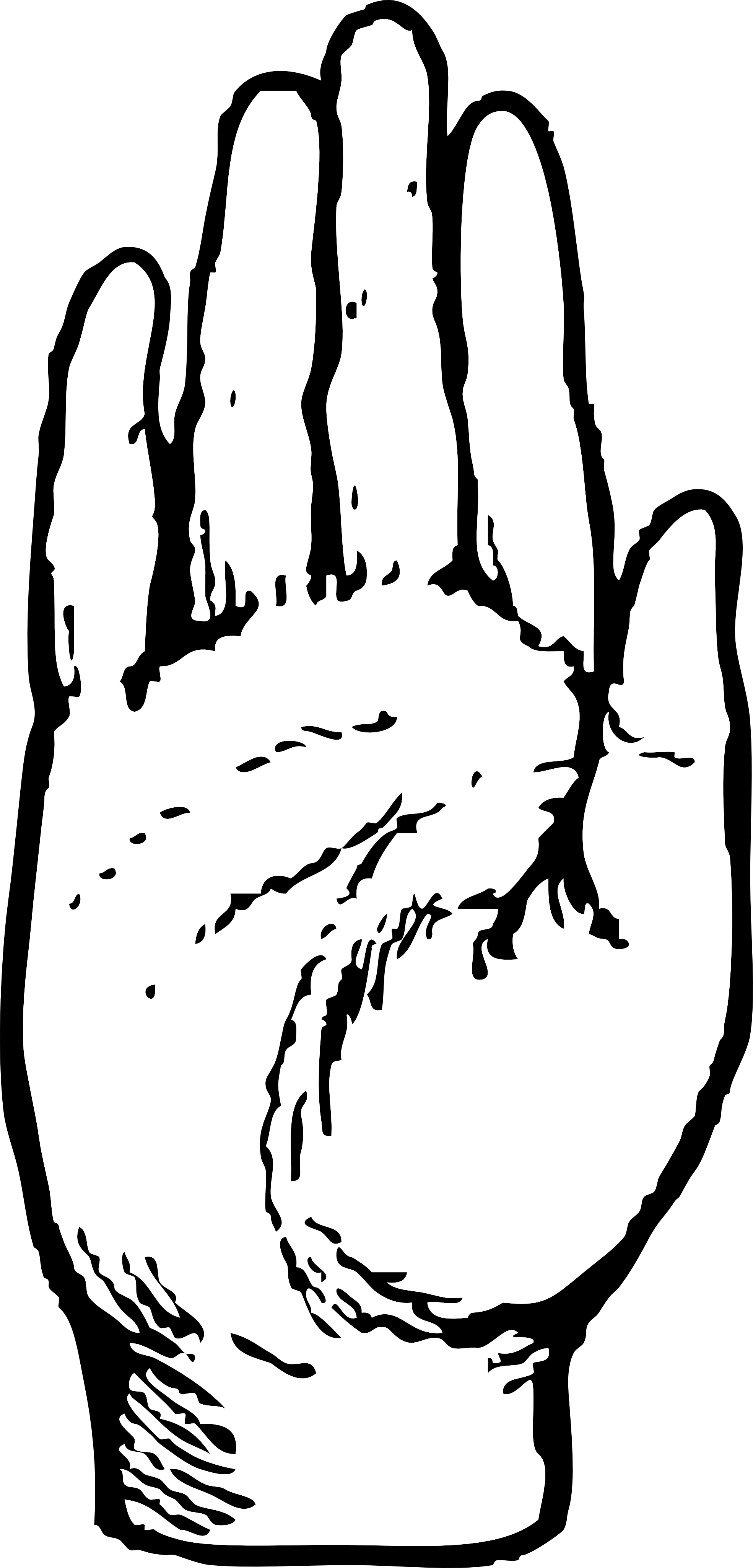 Hand Clipart Black And White Right Hand Black White Line Art Coloring