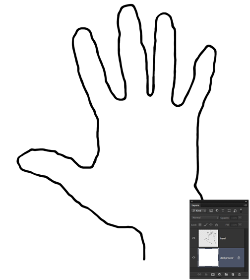 Hand Outline Template Printable   Clipart Panda   Free Clipart Images