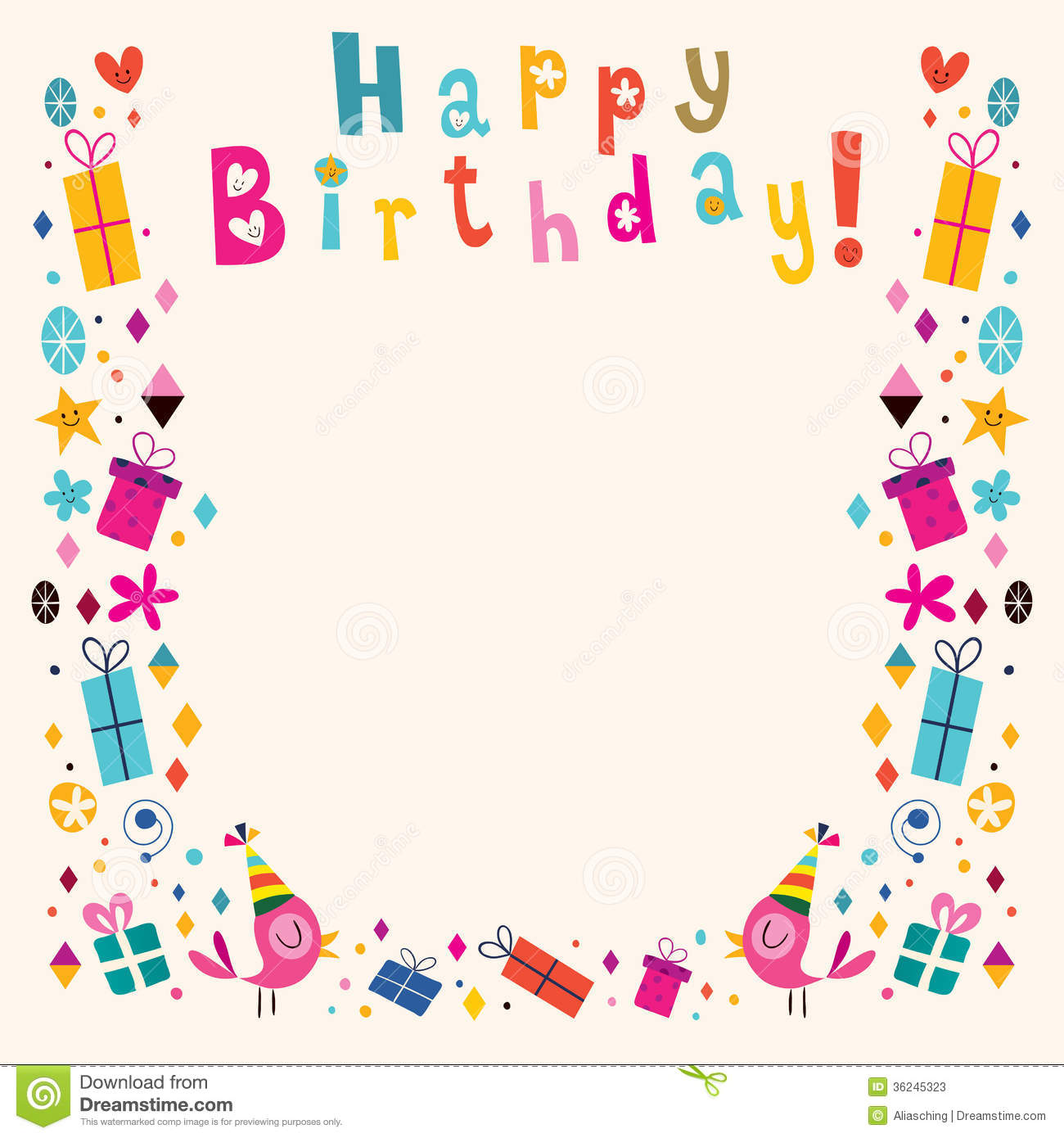 Happy Birthday Borders Clipart - Clipart Suggest