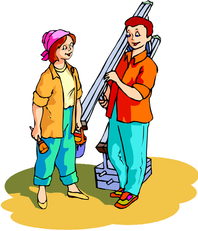 People serving others clipart