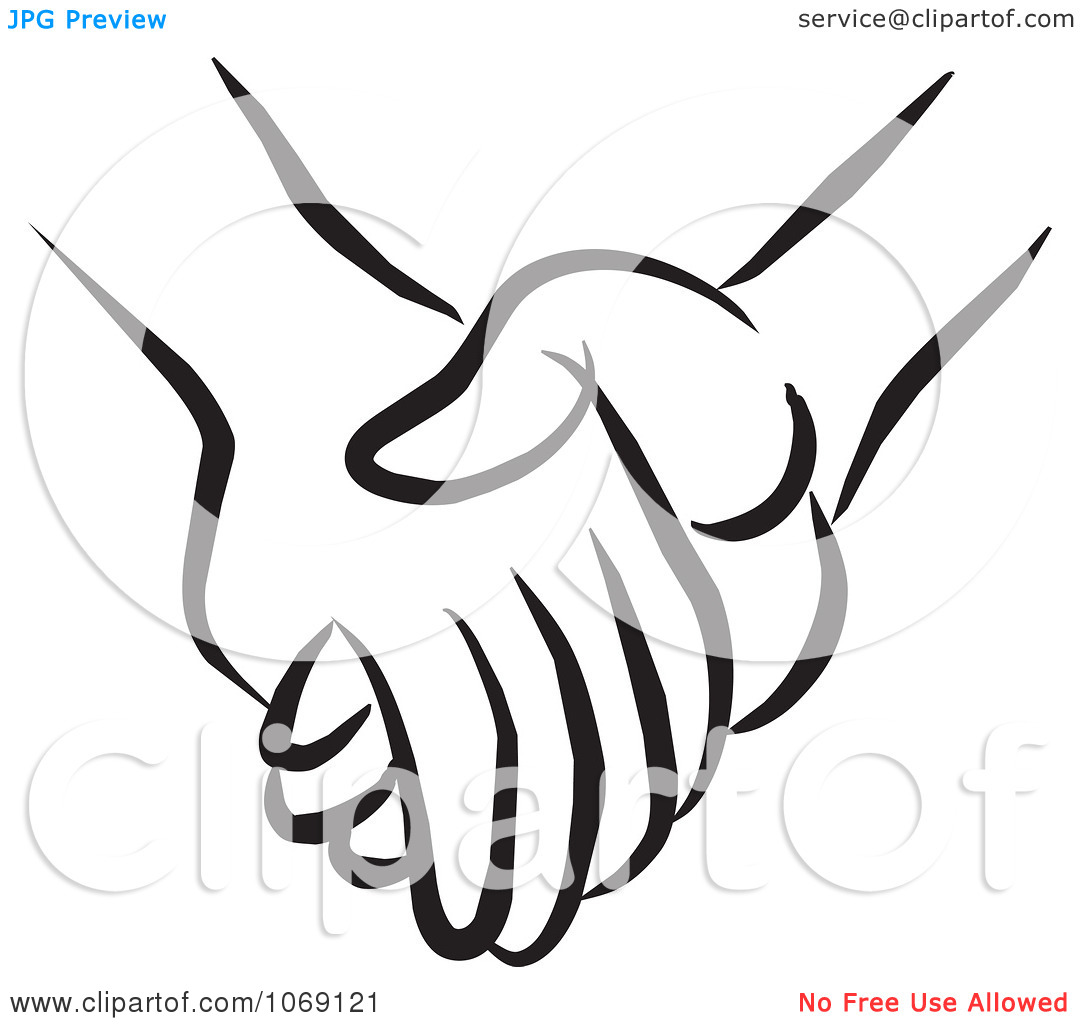 Holding Clipart Clipart Pair Of Holding Hands Royalty Free Vector