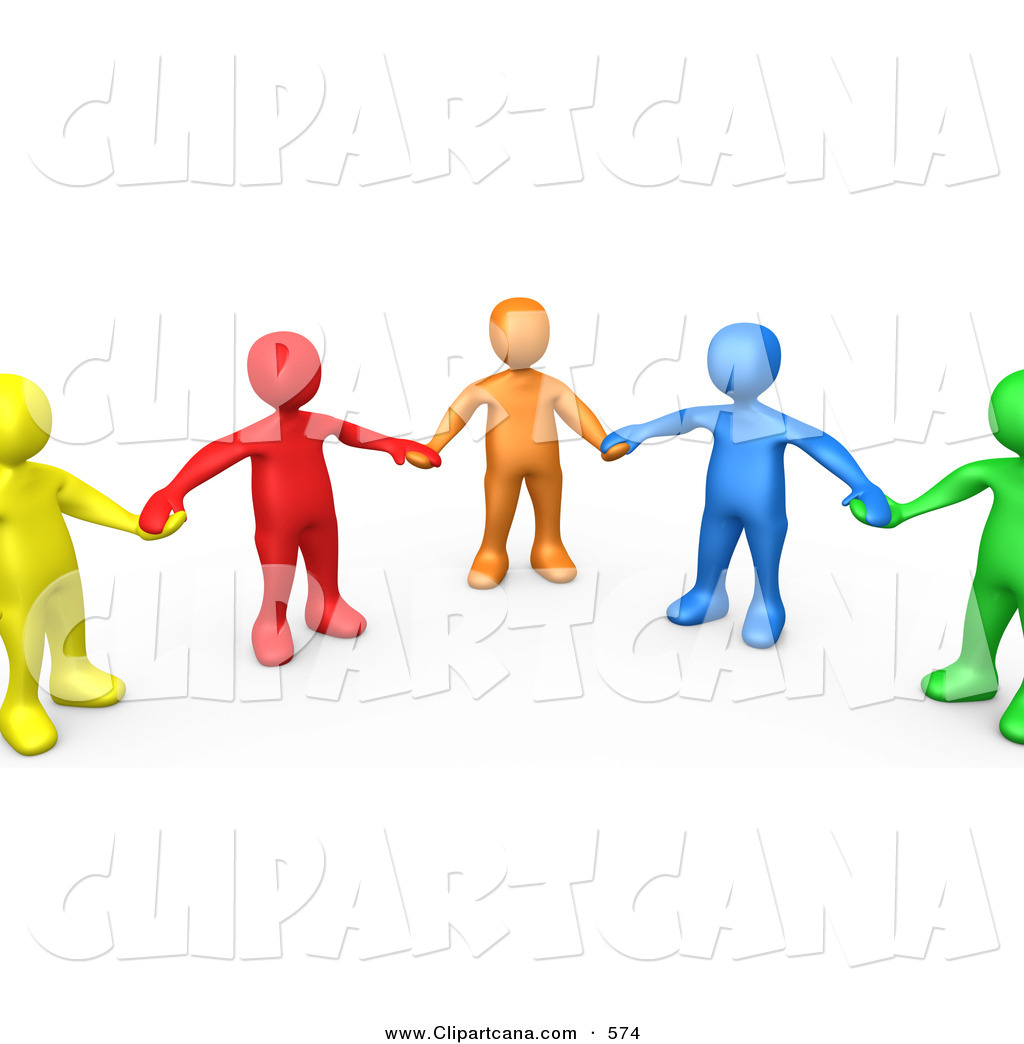 Holding Hands And Standing In A Circle Clip Art 3pod