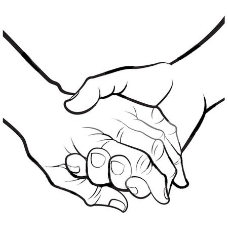 Holding Hands Clipart Black And White   Clipart Panda   Free Clipart